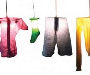 Worn Out Clothing Lamps By Marcella Foschi