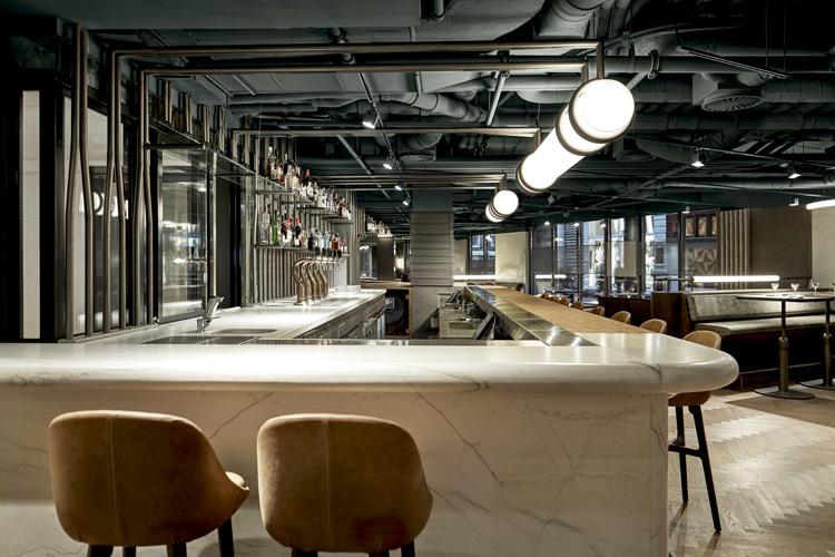 Wyers restaurant bar by studio modijefsky - Bar cuisine studio ...