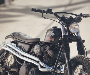 Yard Built SCR950 Chequered Scrambler by Brat Style