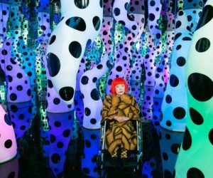 Yayoi Kusamas exhibition at David Zwirner gallery, New York