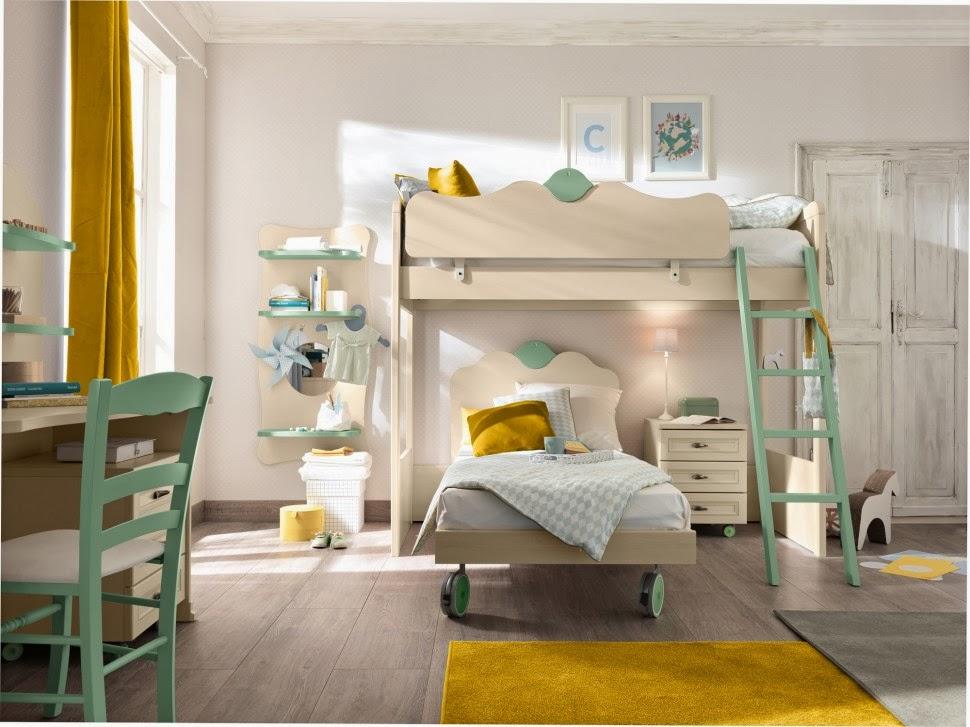 Yellow Green Kids 39 Bedroom