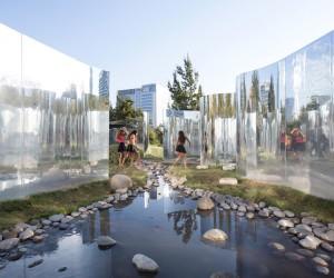Your Reflection Pavilion at Santiagos Parque Araucano