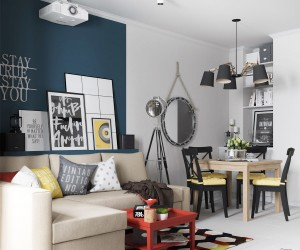 Youthful Apartment design by Iryna Sotnikava