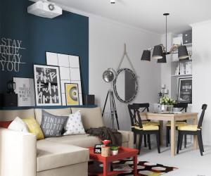 Youthful Apartment design by Iryna Sotnikava