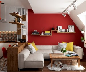 Youthful design by Iva Dimovska for a small studio apartament