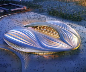 Zaha Hadid Unveils Qatar 2022 World Cup Stadium Design