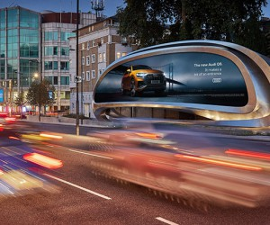 Zaha Hadids Billboard for JCDecaux, West London