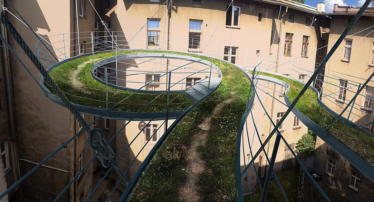 Walk-on balcony / zalewski architecture group - architecture.