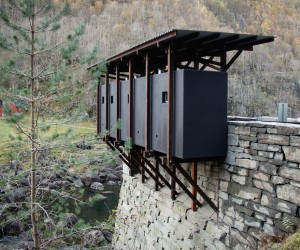 Zinc mine museum at Allmannajuvet by Peter Zumthor